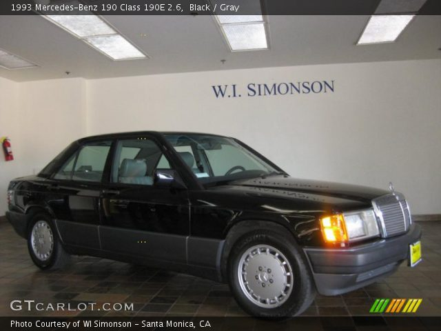 Black 1993 mercedes benz 190 class 190e 2 6 gray for 1993 mercedes benz 190e 2 6