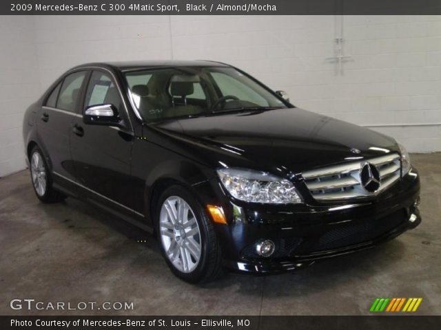 Black 2009 mercedes benz c 300 4matic sport almond for 2009 mercedes benz c 300