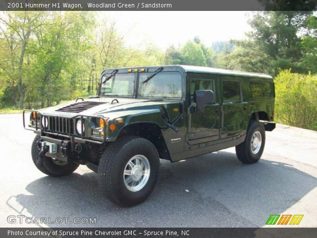 2001 Hummer H1 Wagon in Woodland Green