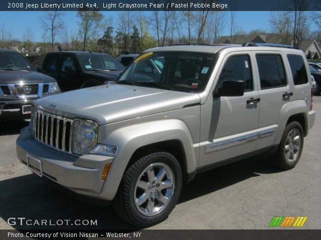 Light Graystone Pearl 2008 Jeep Liberty Limited 4x4 Pastel Pebble Beige Interior Gtcarlot