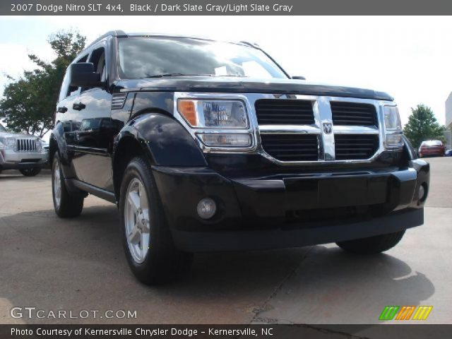 black 2007 dodge nitro slt 4x4 dark slate gray light. Black Bedroom Furniture Sets. Home Design Ideas