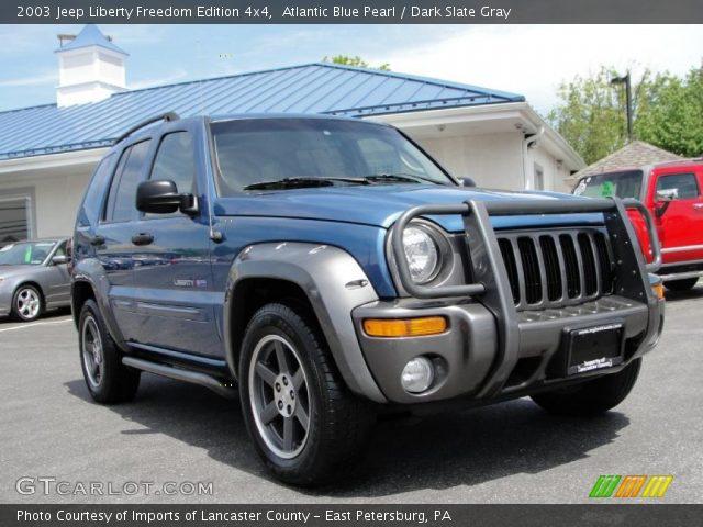 Atlantic Blue Pearl  2003 Jeep Liberty Freedom Edition 4x4  Dark