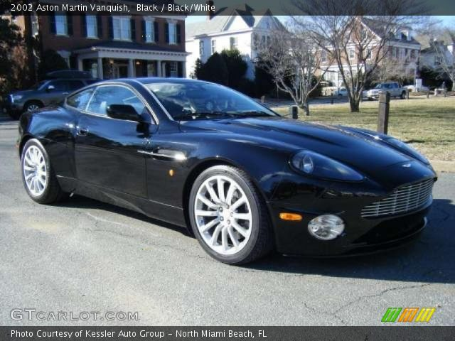 black 2002 aston martin vanquish black white interior. Black Bedroom Furniture Sets. Home Design Ideas
