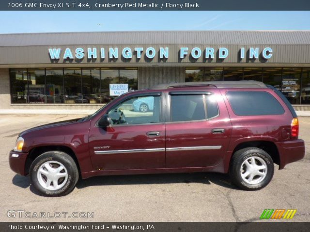 cranberry red metallic 2006 gmc envoy xl slt 4x4 ebony. Black Bedroom Furniture Sets. Home Design Ideas