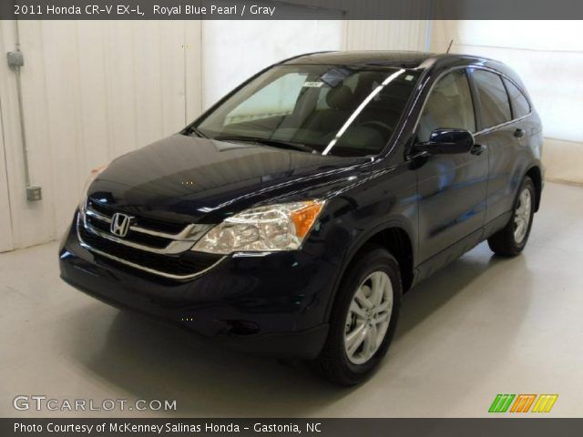 royal blue pearl 2011 honda cr v ex l gray interior vehicle archive 49245172. Black Bedroom Furniture Sets. Home Design Ideas
