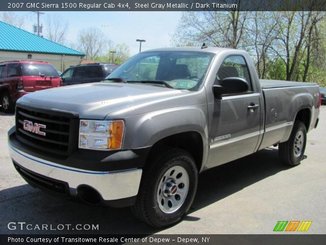 2007 GMC Sierra 1500 Regular Cab 4x4 in Steel Gray Metallic