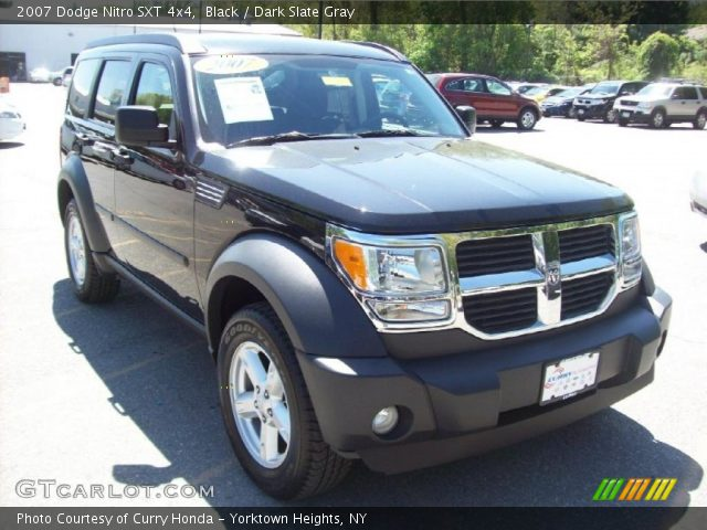 black 2007 dodge nitro sxt 4x4 dark slate gray. Black Bedroom Furniture Sets. Home Design Ideas