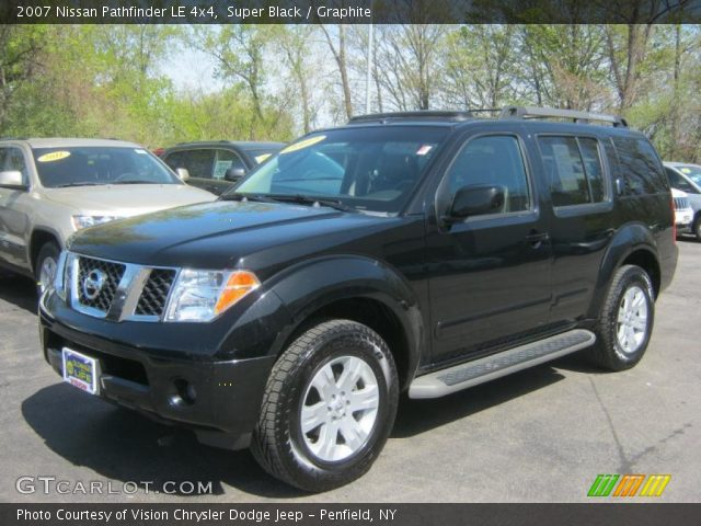 super black 2007 nissan pathfinder le 4x4 graphite. Black Bedroom Furniture Sets. Home Design Ideas