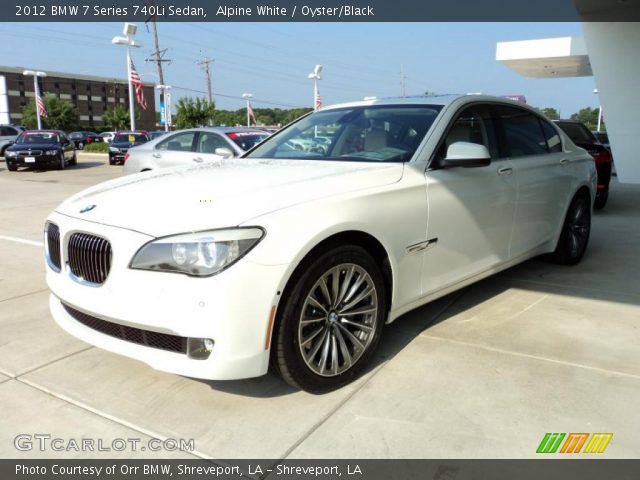 alpine white 2012 bmw 7 series 740li sedan oyster. Black Bedroom Furniture Sets. Home Design Ideas