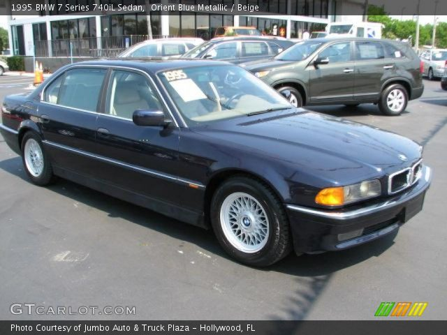orient blue metallic 1995 bmw 7 series 740il sedan beige interior vehicle. Black Bedroom Furniture Sets. Home Design Ideas