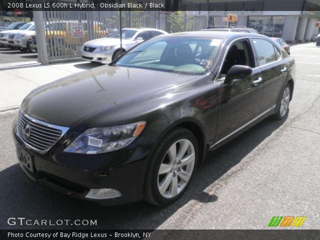 obsidian black 2008 lexus ls 600h l hybrid black. Black Bedroom Furniture Sets. Home Design Ideas
