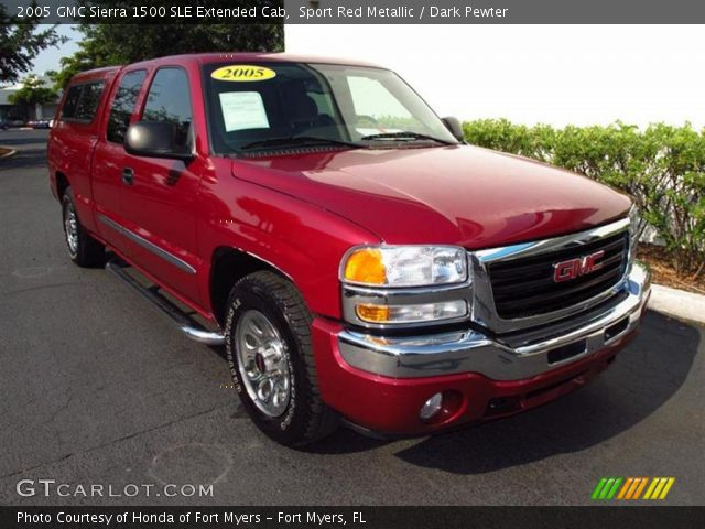 sport red metallic 2005 gmc sierra 1500 sle extended cab dark pewter interior. Black Bedroom Furniture Sets. Home Design Ideas