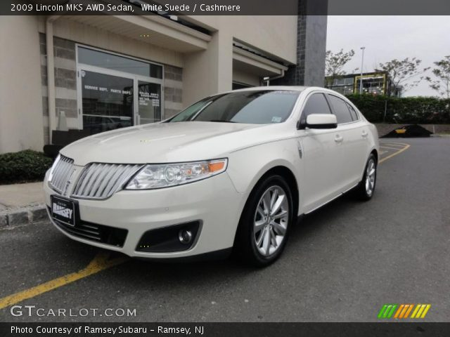 white suede 2009 lincoln mks awd sedan cashmere. Black Bedroom Furniture Sets. Home Design Ideas