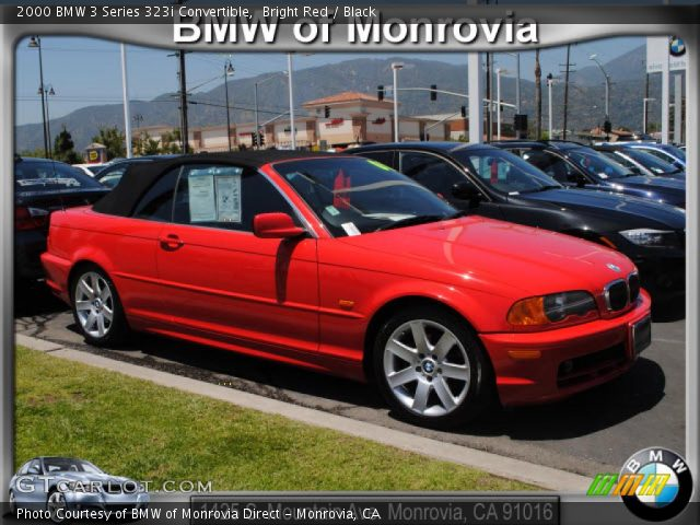 bright red 2000 bmw 3 series 323i convertible black. Black Bedroom Furniture Sets. Home Design Ideas