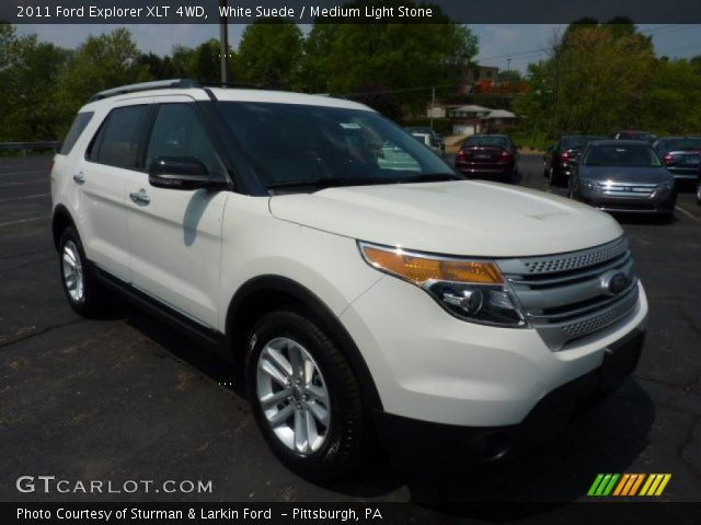 white suede 2011 ford explorer xlt 4wd medium light. Black Bedroom Furniture Sets. Home Design Ideas