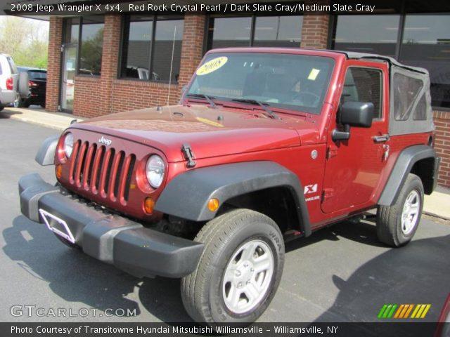Red Rock Crystal Pearl 2008 Jeep Wrangler X 4x4 Dark Slate Gray Medium Slate Gray Interior