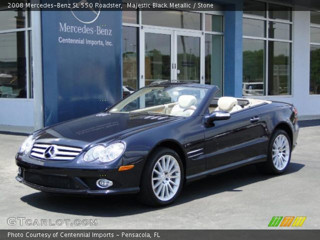 2008 Mercedes-Benz SL 550 Roadster in Majestic Black Metallic