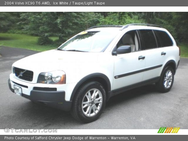 ice white 2004 volvo xc90 t6 awd taupe light taupe interior vehicle archive. Black Bedroom Furniture Sets. Home Design Ideas