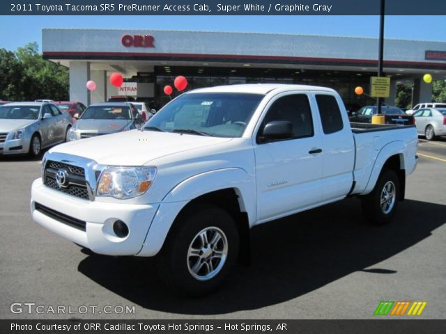 super white 2011 toyota tacoma sr5 prerunner access cab graphite gray interior gtcarlot. Black Bedroom Furniture Sets. Home Design Ideas
