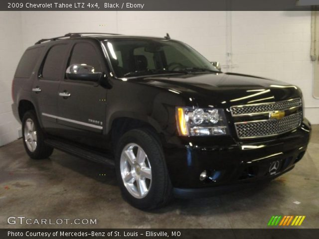 Black 2009 Chevrolet Tahoe Ltz 4x4 Ebony Interior Vehicle Archive 49390599