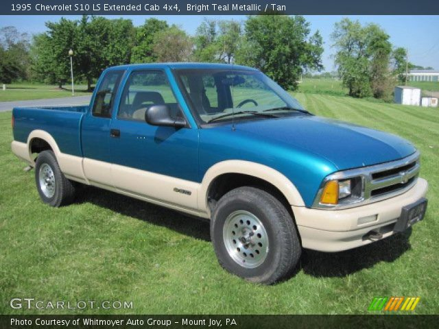 bright teal metallic 1995 chevrolet s10 ls extended cab. Black Bedroom Furniture Sets. Home Design Ideas
