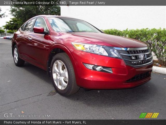 Tango Red Pearl 2011 Honda Accord Crosstour Ex L 4wd