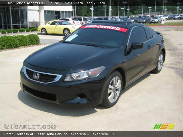 crystal black pearl 2009 honda accord ex l coupe black. Black Bedroom Furniture Sets. Home Design Ideas