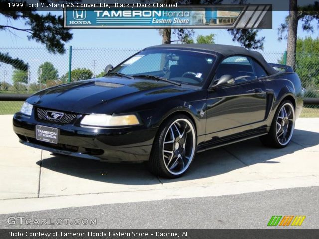 black 1999 ford mustang v6 convertible dark charcoal. Black Bedroom Furniture Sets. Home Design Ideas