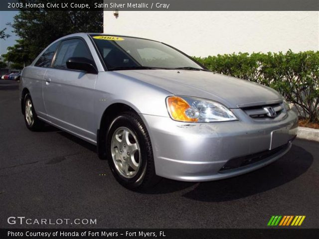 satin silver metallic 2003 honda civic lx coupe gray. Black Bedroom Furniture Sets. Home Design Ideas