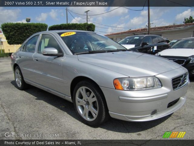 silver metallic 2007 volvo s60 2 5t taupe light taupe interior vehicle. Black Bedroom Furniture Sets. Home Design Ideas