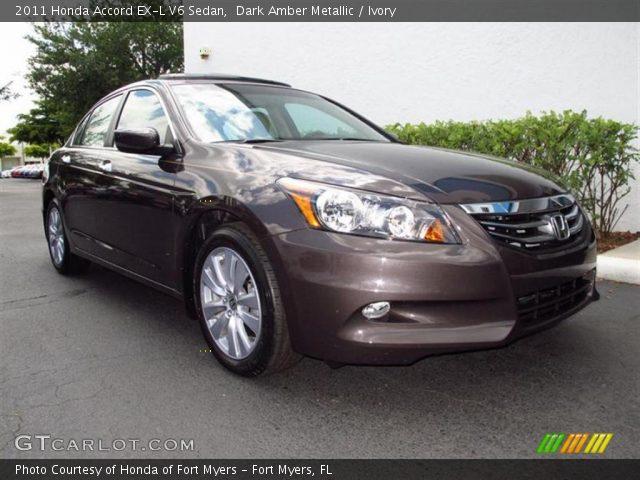 dark amber metallic 2011 honda accord ex l v6 sedan ivory interior vehicle. Black Bedroom Furniture Sets. Home Design Ideas