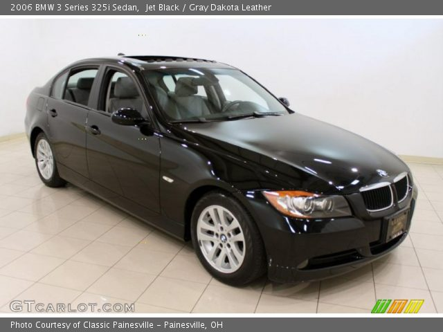 jet black 2006 bmw 3 series 325i sedan gray dakota. Black Bedroom Furniture Sets. Home Design Ideas