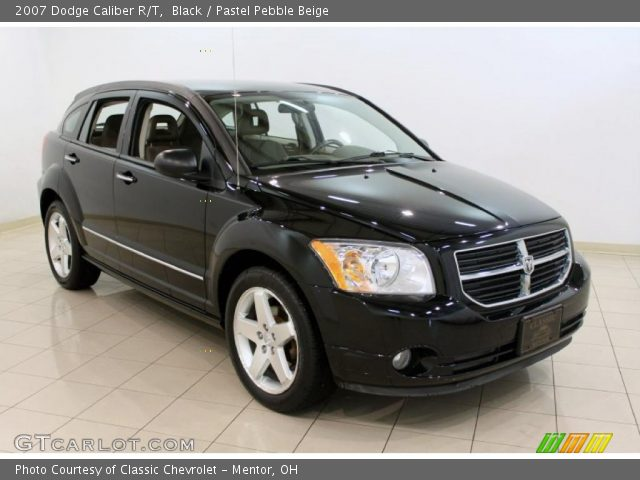 black 2007 dodge caliber r t pastel pebble beige. Black Bedroom Furniture Sets. Home Design Ideas
