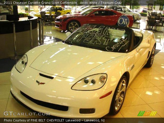 Arctic White 2011 Chevrolet Corvette Grand Sport Convertible Titanium Gray Interior