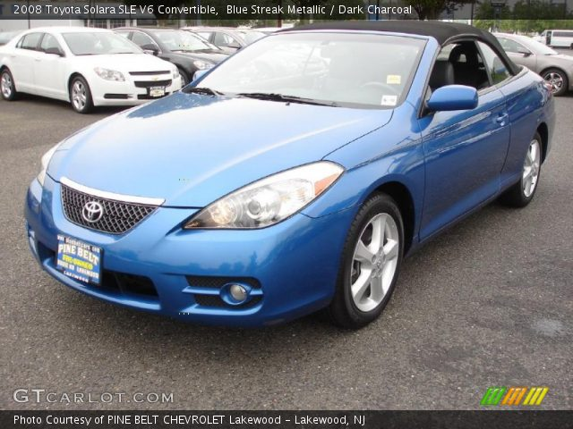 blue streak metallic 2008 toyota solara sle v6 convertible dark charcoal interior gtcarlot. Black Bedroom Furniture Sets. Home Design Ideas