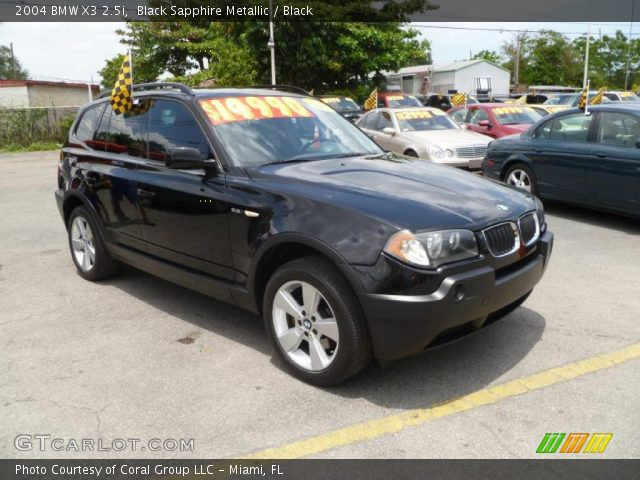 black sapphire metallic 2004 bmw x3 black. Black Bedroom Furniture Sets. Home Design Ideas