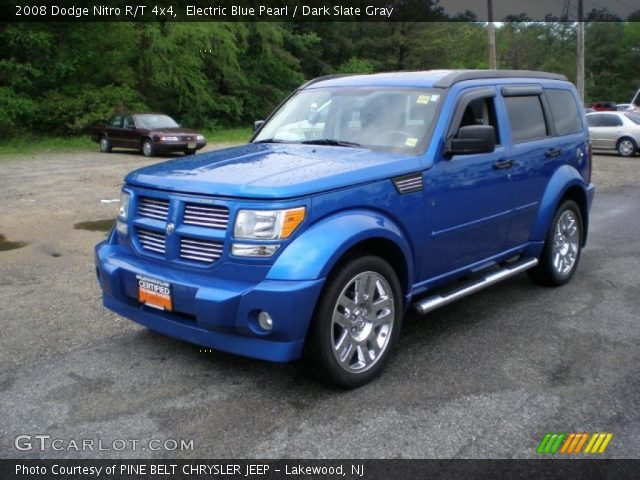 electric blue pearl 2008 dodge nitro r t 4x4 dark. Black Bedroom Furniture Sets. Home Design Ideas