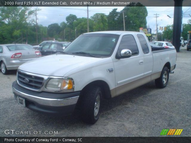 oxford white 2000 ford f150 xlt extended cab medium parchment interior. Black Bedroom Furniture Sets. Home Design Ideas