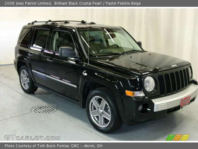 brilliant black crystal pearl 2008 jeep patriot limited. Black Bedroom Furniture Sets. Home Design Ideas