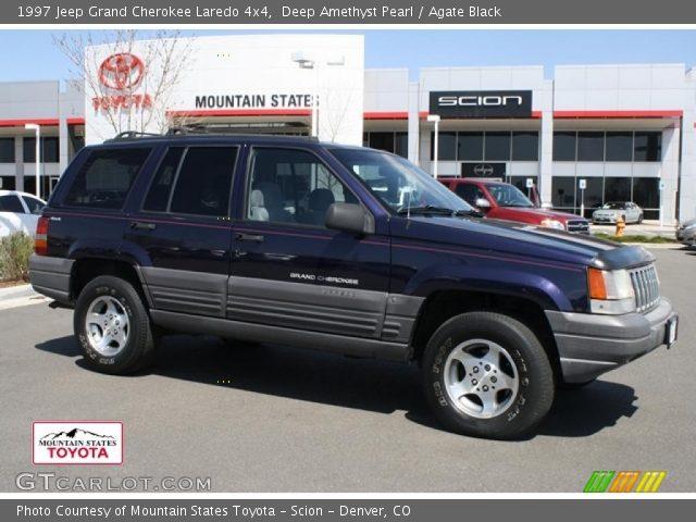 Deep amethyst pearl 1997 jeep grand cherokee laredo 4x4 - 1997 jeep grand cherokee interior ...