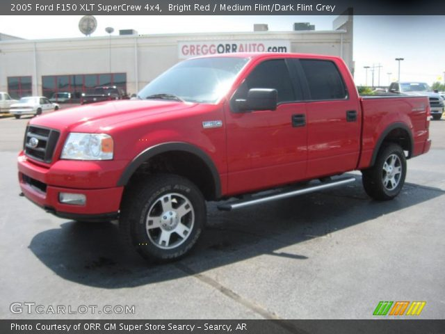 2005 Ford F150 XLT SuperCrew 4x4 in Bright Red