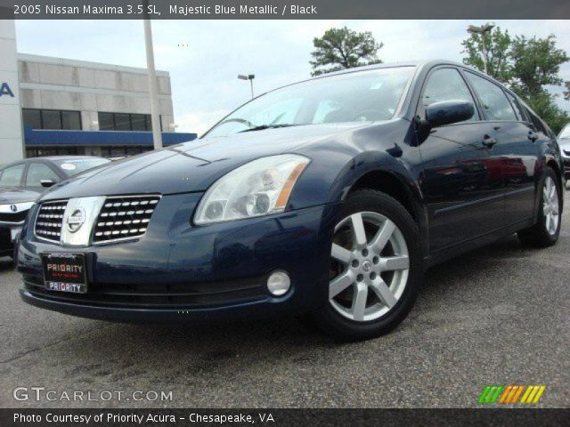majestic blue metallic 2005 nissan maxima 3 5 sl black. Black Bedroom Furniture Sets. Home Design Ideas