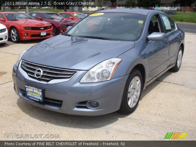 ocean gray 2011 nissan altima 2 5 s charcoal interior vehicle archive 49514656. Black Bedroom Furniture Sets. Home Design Ideas