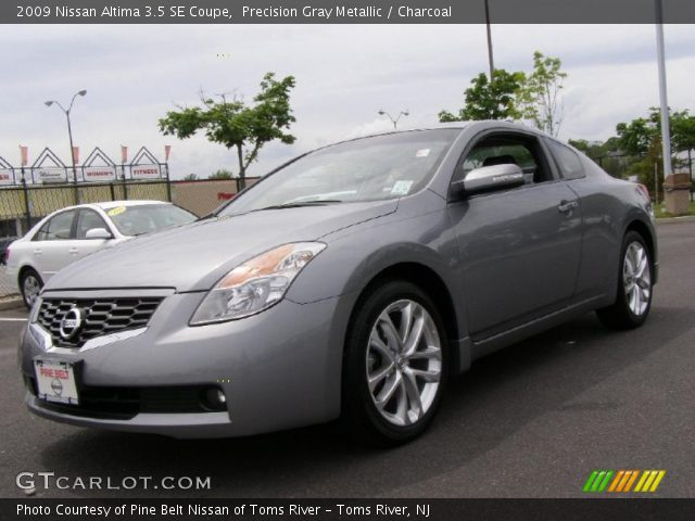 precision gray metallic 2009 nissan altima 3 5 se coupe charcoal interior. Black Bedroom Furniture Sets. Home Design Ideas