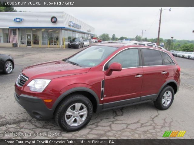 ruby red 2008 saturn vue xe gray interior vehicle archive 49566220. Black Bedroom Furniture Sets. Home Design Ideas