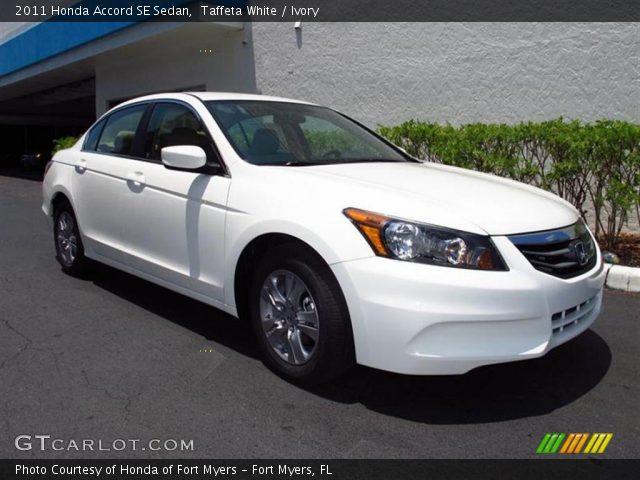 Taffeta White 2011 Honda Accord Se Sedan Ivory