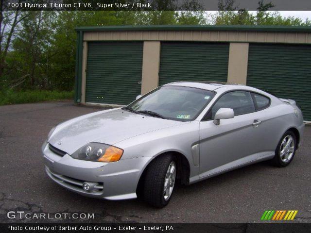 Super Silver 2003 Hyundai Tiburon Gt V6 Black Interior