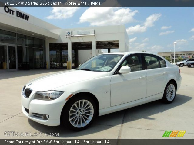 alpine white 2011 bmw 3 series 335d sedan beige interior vehicle archive. Black Bedroom Furniture Sets. Home Design Ideas