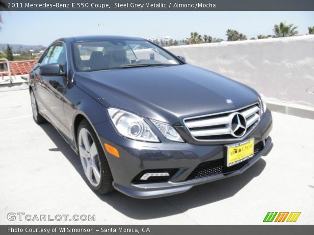 2011 Mercedes-Benz E 550 Coupe in Steel Grey Metallic