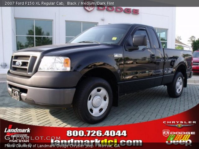 black 2007 ford f150 xl regular cab medium dark flint interior vehicle. Black Bedroom Furniture Sets. Home Design Ideas